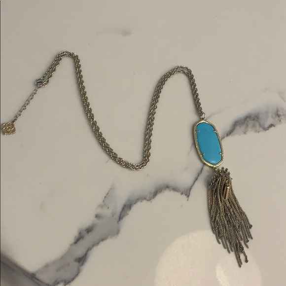 Kendra Scott Rayne necklace turquoise and gold